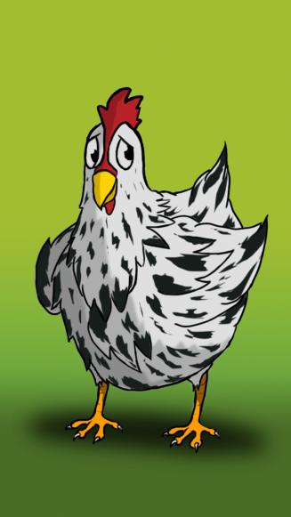 gallina dentro